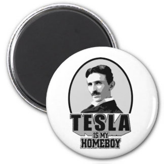 Tesla Is My Homeboy Fridge Magnet