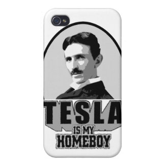 Tesla Is My Homeboy iPhone 4 Cover