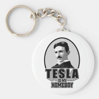 Tesla Is My Homeboy Keychains