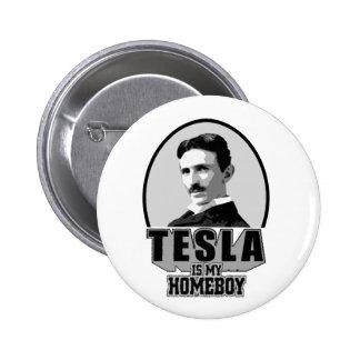 Tesla Is My Homeboy Pins