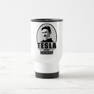Tesla Is My Homeboy Stainless Steel Travel Mug