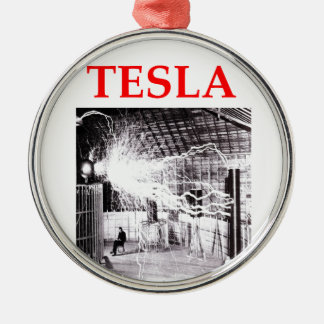tesla metal ornament