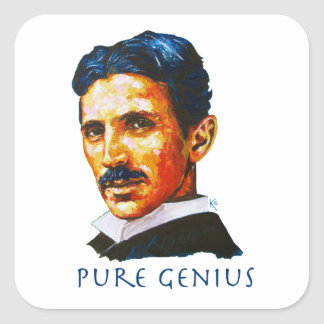 Tesla - Pure Genius Square Sticker