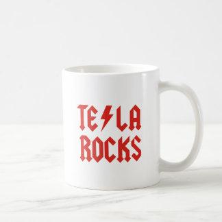 Tesla Rocks! Basic White Mug