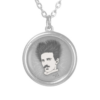 Tesla Static II Silver Plated Necklace