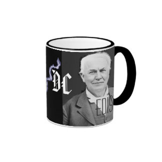 Tesla vs Edison Ringer Mug
