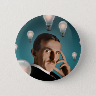 Tesla's Dream 6 Cm Round Badge