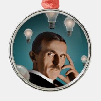 Tesla's Dream Metal Ornament