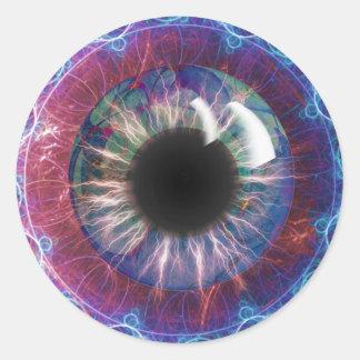 Tesla's Eye Fractal Design Classic Round Sticker