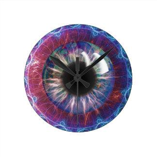 Tesla's Eye Fractal Design Round Clock