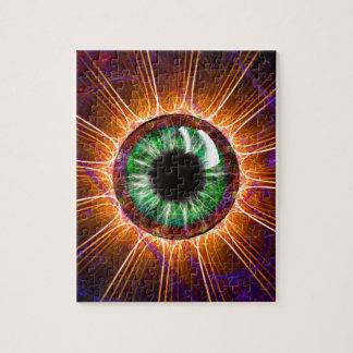 Tesla's Other Eye Fractal Art Jigsaw Puzzle
