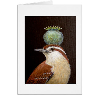 Tess, the Carolina wren greeting card