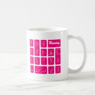 Tessa's famous stick figures coffee mug