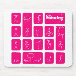 Tessa's famous stick figures mouse pad