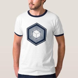 Tesseract, 4D Hypercube, hypercube, Crop Circle Tee Shirt