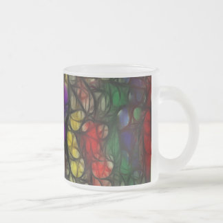 test 2 frosted glass coffee mug
