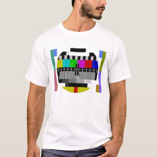 Test Card T-Shirt TV Pattern
