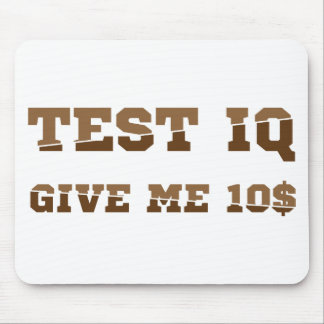 Test iq mouse pad