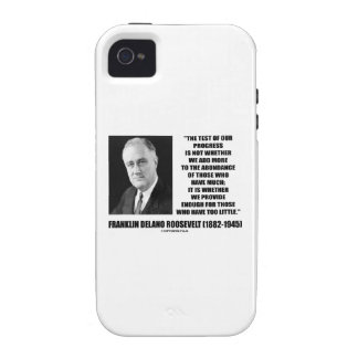 Test Of Our Progress Provide Enough F.D. Roosevelt iPhone 4/4S Cases
