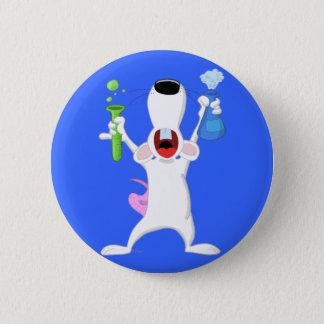 Test Tube Lab Rat Button