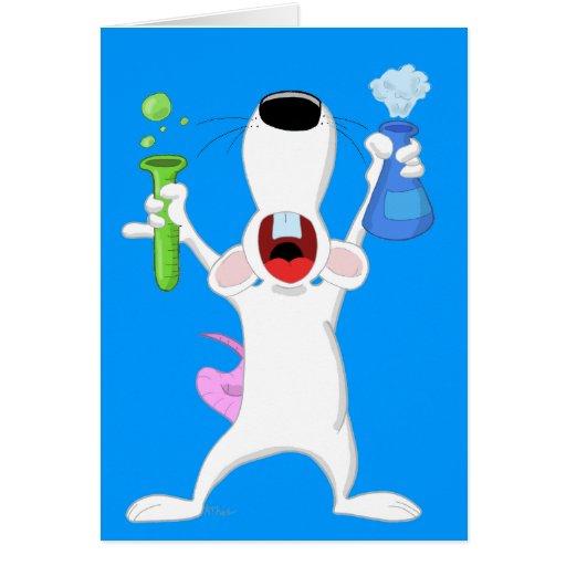 Test Tube Lab Rat Card