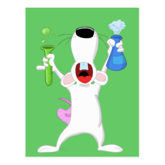 Test Tube Lab Rat Postcard