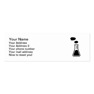 Test tube smoke business card templates