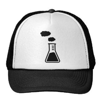 Test tube smoke trucker hats