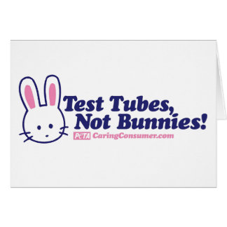 Test Tubes, Not Bunnies Card