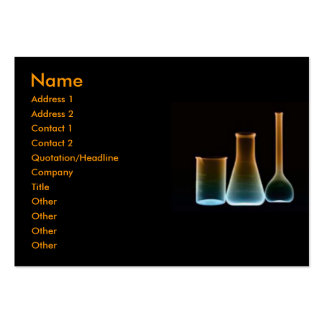Test Tubes Profile Card Business Card Template