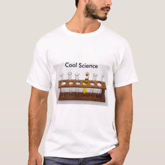 test tubes science lab equipment and flower T-Shirt