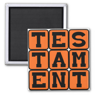 Testament Evidence of Fact Magnet