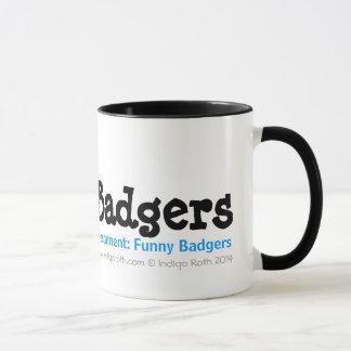 TESTAMENT: FUNNY BADGERS (TM) Dantoo, Hoth and Sol Mug