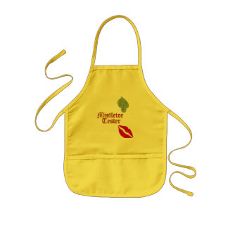 Tester3 Red Lips RednGrn Old English Text M Alpha Kids Apron
