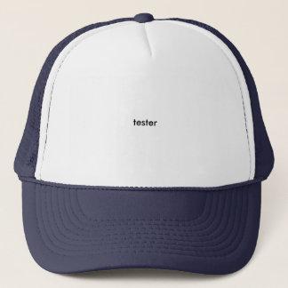 tester trucker hat