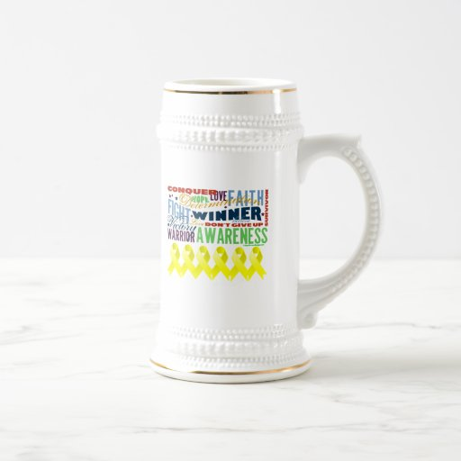 Testicular Cancer Inspirational Words Coffee Mugs