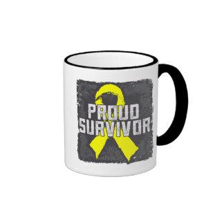Testicular Cancer Proud Survivor Mugs