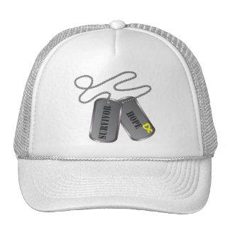 Testicular Cancer Survivor Dog Tags Trucker Hat