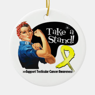 Testicular Cancer Take a Stand Christmas Ornament
