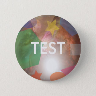 testing geos 6 cm round badge