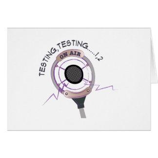 Testing Testing Card