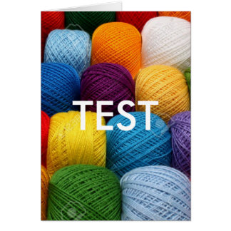 testing yarn card