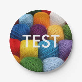 testing yarn paper plate