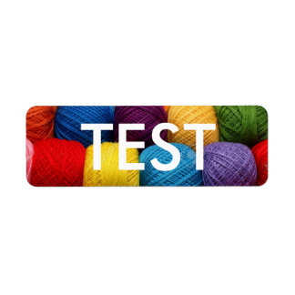 testing yarn return address label