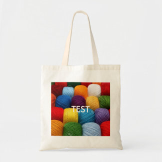 testing yarn tote bag