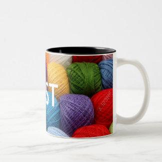 testing yarn Two-Tone coffee mug