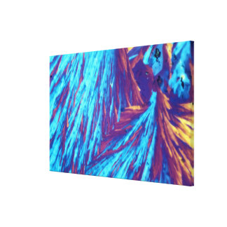Testosterone crystals gallery wrapped canvas