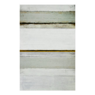 'Testosterone' Neutral Abstract Art Poster