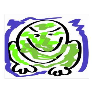 Testy frog postcard