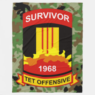 TET OFFENSIVE 1968 SURVIVOR FLEECE BLANKET